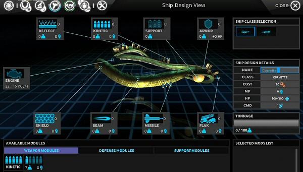 Endless Space | Alpha Version - Ship Design
