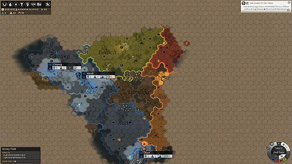Endless Legend Early Access - World Map with Regions
