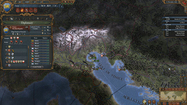 Europa Universalis - User Interface