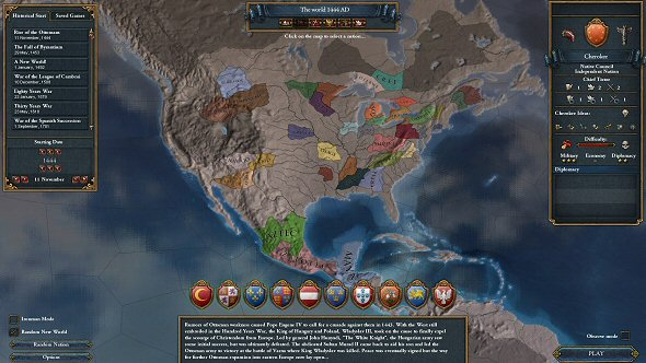 North America with natives!