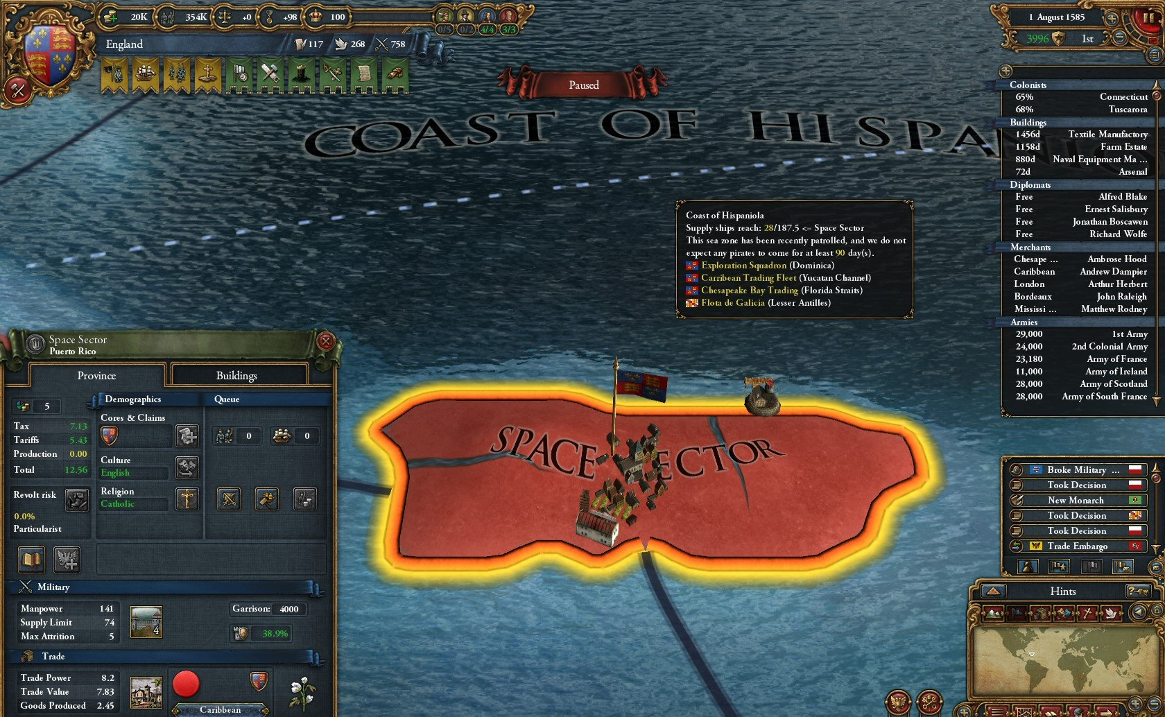Europa Universalis IV Review - SpaceSector com