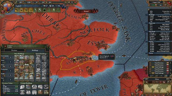 Europa Universalis IV | Provinces development and buildings