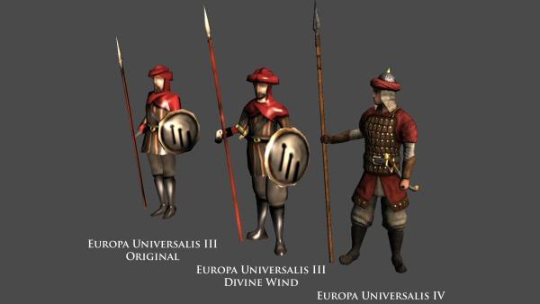 Europa Universalis IV: Unit comparison