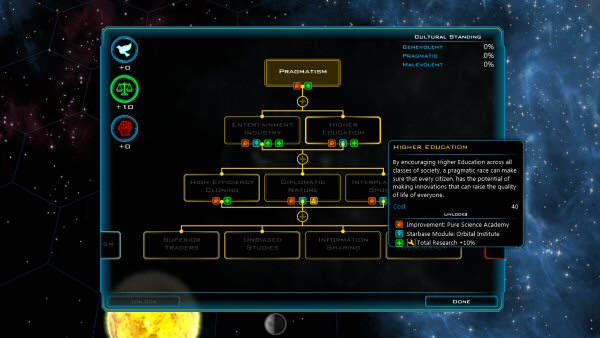 Galactic Civilizations 3 (Early Access - March 2014) | Ideologies system