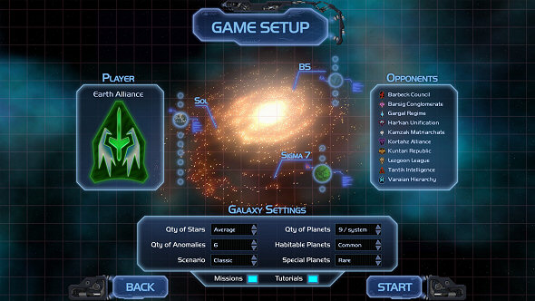 Horizon - Game Setup