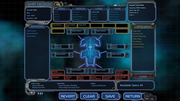 Horizon - The ship design screen could be more user friendly but it gets the job done