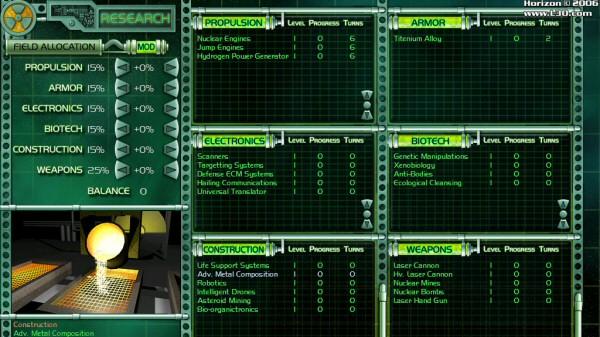Horizon Research screen (6 years ago)