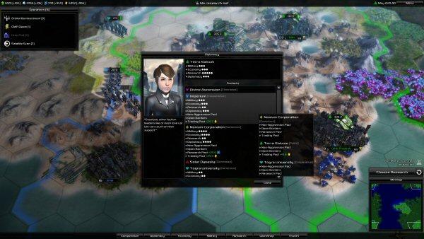 Pandora: First Contact | Diplomacy screen