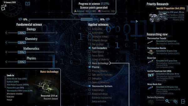 Polaris Sector   Priority research has automatically adjusted my research slider