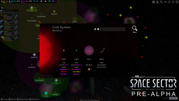 Project Space Sector: System View - unexplored (Pre-Alpha)