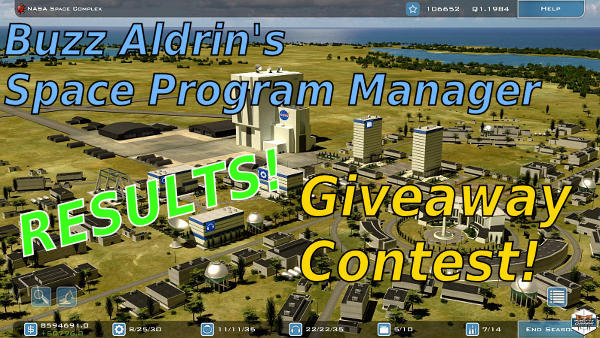 Buzz Aldrin's Space Program Manager | Giveaway contest results