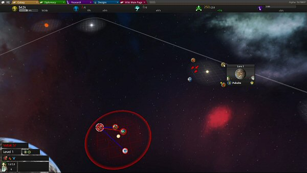 Star Ruler 2 (Alpha) | Star systems view
