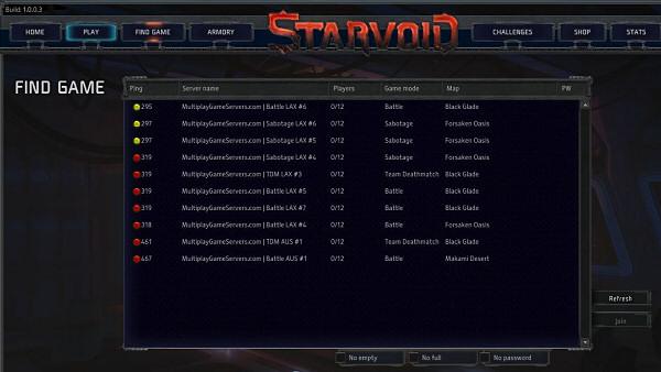 Starvoid | Lobby