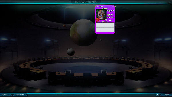 Sword of the Stars 2: Enhanced Edition - Diplomacy screen