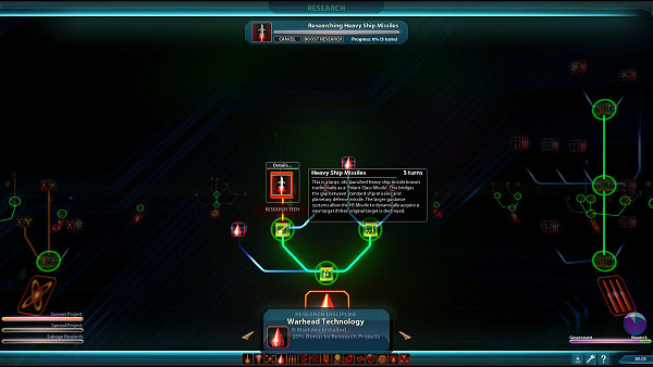 Sword of the Stars 2: Enhanced Edition - Research screen