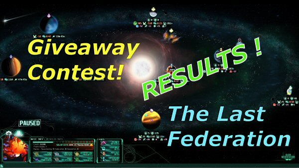 The Last Federation by Arcen Games - Giveaway contest results