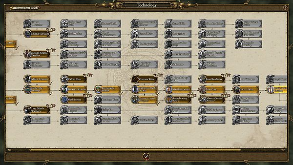 Total War: WARHAMMER - The Dwarves have a mighty tech tree