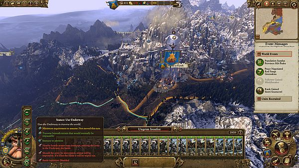 Total War: WARHAMMER - Orcs and Dwarves can travel quickly in the underway