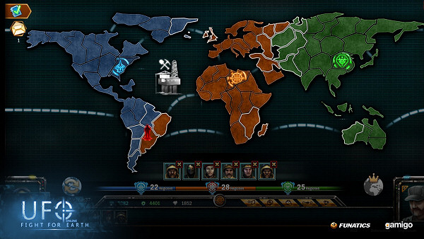 UFO Online: Fight for Earth - Strategy layer | map