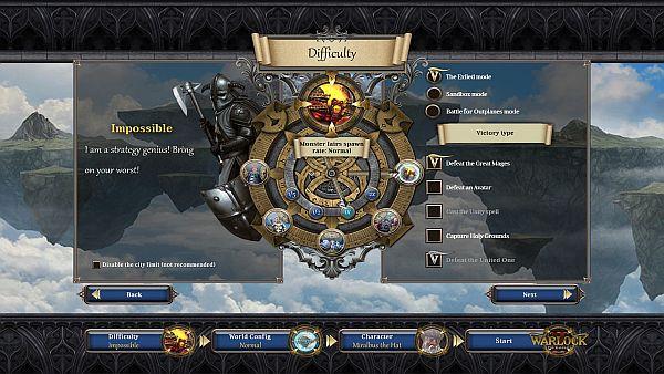 Warlock 2 Game Setup
