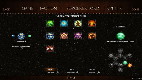 Worlds of Magic: Early Access First Impressions - Choosing the starting spells
