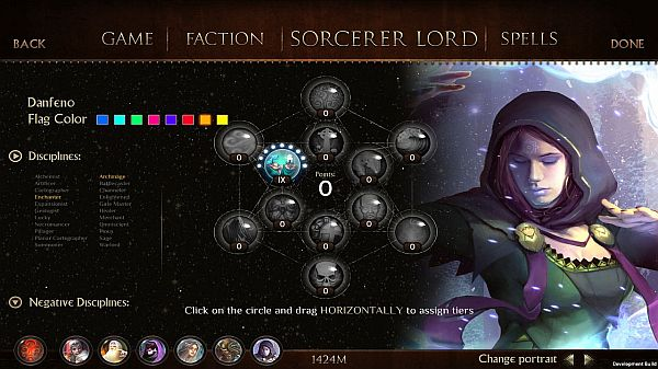 Worlds of Magic: Early Access First Impressions | Choose Sorcerer lord