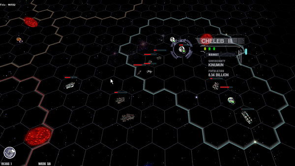Worlds Collide   Hex grid map