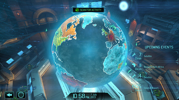 """Nothing like starting your day in the X-COM Geoscope room"""