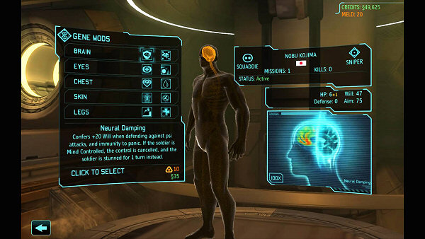 XCOM: Enemy Within | Gene modifications
